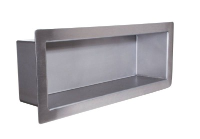 "Bradley SA47 Series 4""D x 16""W x 5""H Recessed Chase Mounted Stainless Security Steel Shelf"