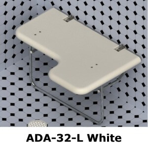 CD Sparling ADA32L Left Hand Folding Shower Seat
