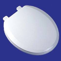 COMFORT SEATS Toilet Seat - EZ Close, Solid Plastic, Regular Closed Front with Cover