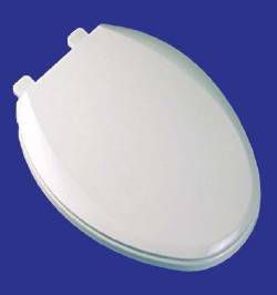 COMFORT SEATS Toilet Seat - EZ Close, Deluxe Solid Plastic, Elongated Closed Front with Cover