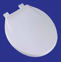 COMFORT SEATS Toilet Seat - Plastic, Elongated Closed Front with Cover