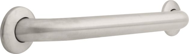 1-1/2 inch x 18 inch Grab Bar, Concealed Mounting - Stainless Steel