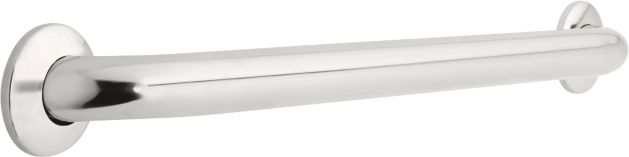 1-1/2 inch x 24 inch Grab Bar, Concealed Mounting - Bright Stainless Steel
