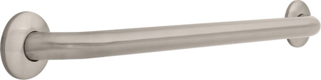 1-1/4 inch x 24 inch Grab Bar, Concealed Mounting - Satin Nickel