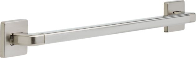 Angular Modern Grab Bar - 1 1/4 inch x 24 inch - Stainless