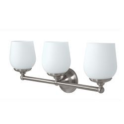 "Gatco Oldenburg 9-1/2"" x 23"" Satin Nickel Triple Sconce"