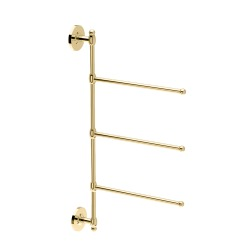 "Gatco 24"" Brass 3 Arm Wall Towel Bar"