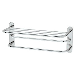 "Gatco 26-1/2"" x 10-1/2"" Chrome Spa Rack 3-Tier Towel Rack"