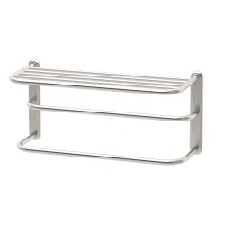 "Gatco 20"" x 10"" Satin Nickel Spa Rack 3-Tier Towel Rack"