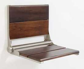 Life Line Walnut Shower Seat