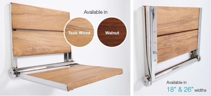 Lifeline Teak Wood U0026 Walnut Shower Seats