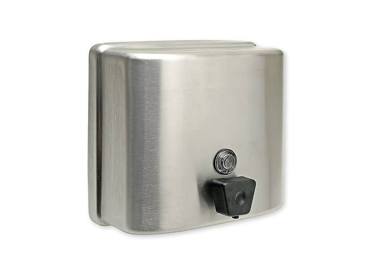 SOAP DISPENSER, VERTICAL, STAINLESS STEEL, 47 OZ - US32D BRUSHED STAINLESS STEEL