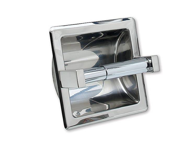 TOILET TISSUE HOLDER, SINGLE, RECESSED - US32 POLISHED STAINLESS STEEL