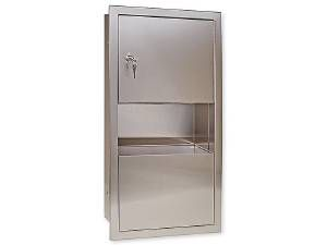 PAPER TOWEL DISPENSER / WASTE CAN - US32D BRUSHED STAINLESS STEEL