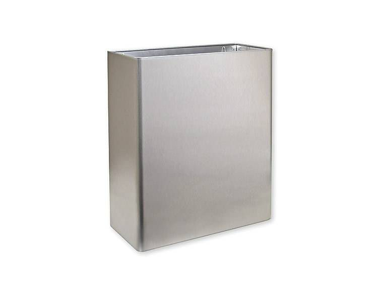 WASTE RECEPTACLE, STAINLESS STEEL - US32D BRUSHED STAINLESS STEEL