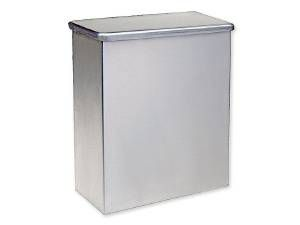 SANITARY NAPKIN RECEPTACLE, STAINLESS STEEL - US32D BRUSHED STAINLESS STEEL