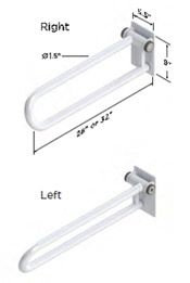 Healthcraft P.T. Rail Hinged