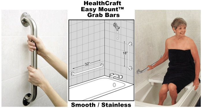 10 Pack 18 Inch Institutional Grab Bars