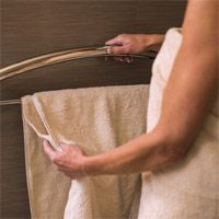 INVISIA - Towel Bar with Integrated Support Rail