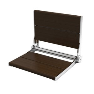 SerenaSeat Walnut Fold Down Shower Seat