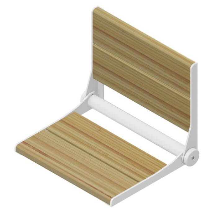 Serenaseat Bamboo Wood With Honey Finish Fold Down Shower Seat Grab Bar Specialists