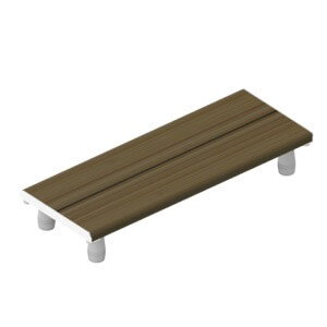 "Invisia ADA Compliant 30"" x 15"" Ash Bath Bench"