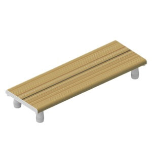 "Invisia ADA Compliant 30"" x 15"" Honey Bath Bench"