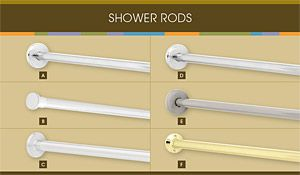 Franklin Brass Shower Rods