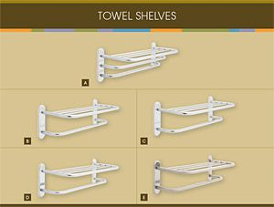 Franklin Brass Towel Shelves