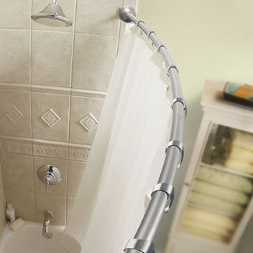 MOEN - Fixed-Length 5' Curved Shower Rods with Pivoting Flanges