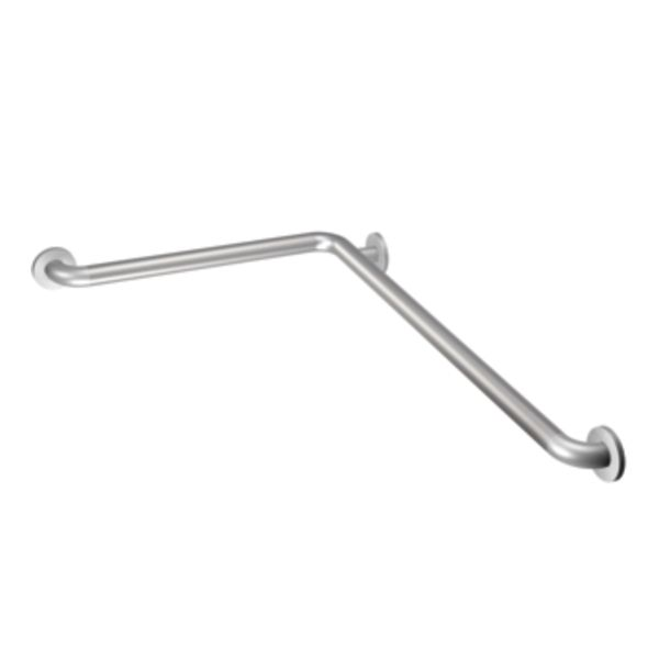Peened 16 inch x 32 inch L-shaped grab bar