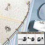 MOEN - Curved Shower Rod - Adjustable-Length