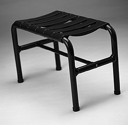 PONTE GIULIO - Bench/Stool with nylon staves. - 19 11/16 inch x 12 13/16 inch x 24 inch