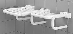 PONTE GIULIO - Double folding shower seat - Left