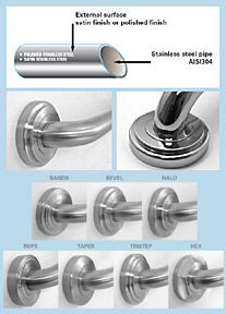 PONTE GIULIO - Platino Stainless Steel Grab Bars