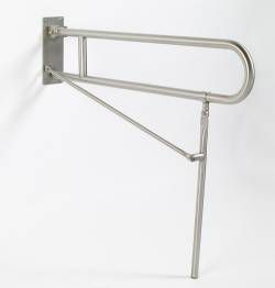 1-1/4 inch Dia. x 30 inch, 42 inch and 54 inch Friction Hinge 97-Series Flip-Up Safety Grab Bar - With Legs - Rated at 250 lbs
