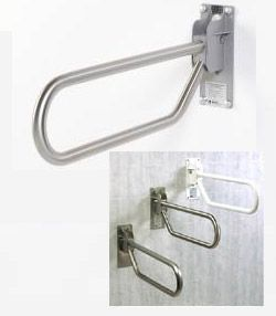 "GBS 96 Series 1-1/4"" x 30"" Locking Hinge Flip-Up Safety Grab Bar"