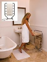 Traditional Heated Towel and Drying Rack -  RT  - Towel Warmer