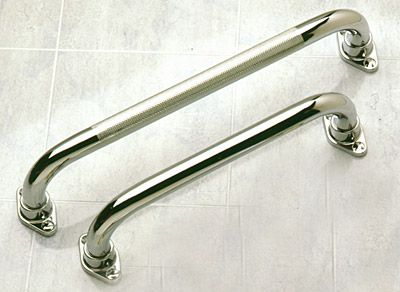 Straight Grab Bars - 1 inch Polished Chrome - Exposed Flange