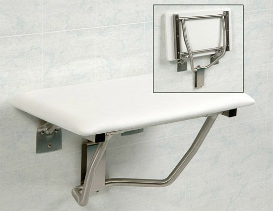 Rectangular Shower Seats  - Padded available in White Only