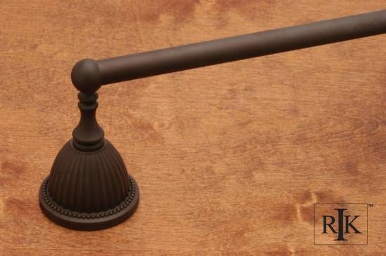 18 inch Beaded Bell Base Towel Bar - Oil Rubbed Bronze