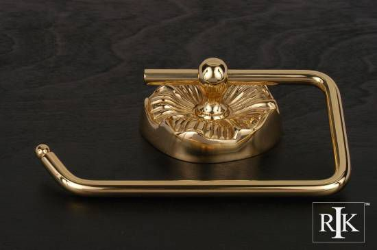 One Arm Daisy Base Contemporary Tissue Paper Holder - Polished Brass