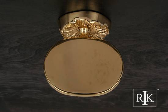 Daisy Base Soap Dish - Polished Brass