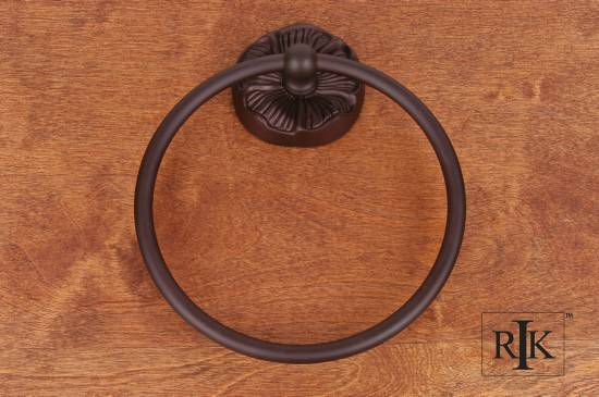 Daisy Base Towel Ring - Oil Rubbed Bronze