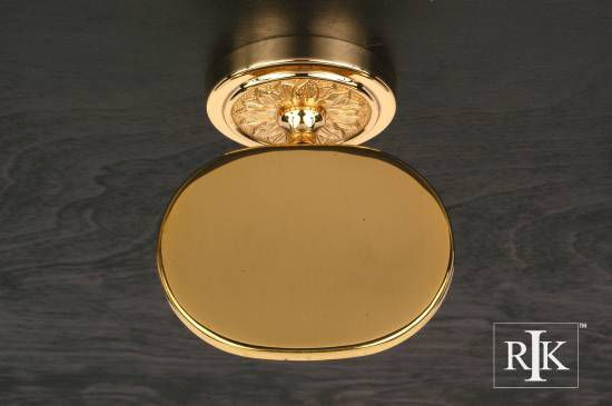 Flower Base Soap Dish - Polished Brass