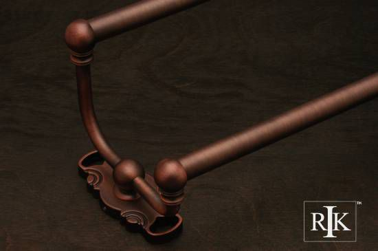 24 inch Double Towel Bar - Distressed Copper