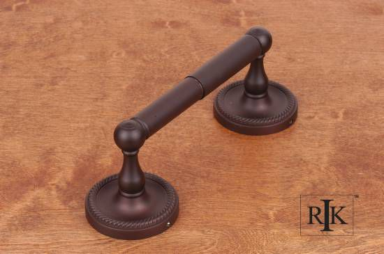 Two Post Rope Base Tissue Paper Holder - Oil Rubbed Bronze