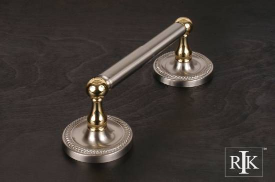 Two Post Rope Base Tissue Paper Holder - Pewter & Brass