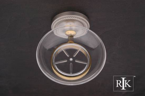 Rope Base Soap Dish - Pewter & Brass