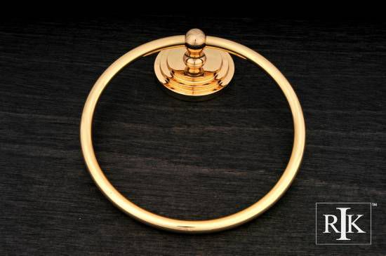 Step Up Base Towel Ring - Polished Brass